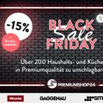 Premiumshop24 Black Friday Sale: Über 200 Haushalts- und Küchengeräte zu unschlagbaren Preisen