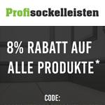 Black Week auf Profisockelleisten.de – Jetzt Gutschein nutzen und 8% Rabatt auf deine Bestellung sichern
