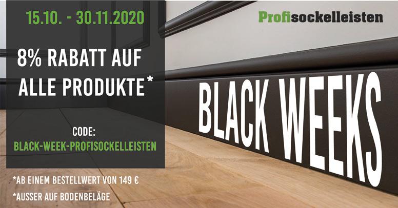 Profisockelleisten Black Friday 2020