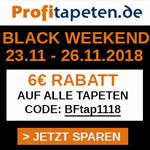 Sicher dir jetzt 6 Euro Rabatt auf alle Tapeten im Onlineshop von Profitapeten.de
