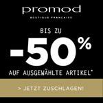 Fashion Weekend bei Promod, bis zu 50% Rabatt auf ausgewählte Artikel!