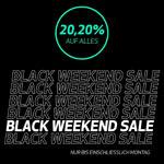 Black Weekend Sale im Onlinestore von Protein Projekt mit 20,20% Rabatt auf alles