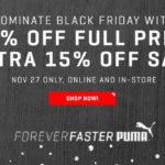 Puma mit 40% Rabatt auf alles und zusätzlichen 15% Nachlass auf Sale!