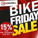 BikeFriday bei RADONLINE – 15% Rabatt auf alle Kinder und Jugendräder