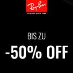 Bis zu 50% Rabatt  auf ausgewählte Artikel in den Stores von Ray Ban