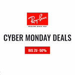 Cyber Monday bei Ray Ban: Hol dir nur heute 25€ Extra-Rabatt