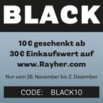 BLACK WEEK 2019 bei Rayher – Sicher dir jetzt 10 Euro Rabatt auf deinen Einkauf