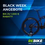 Spare bis zu 1.500 EURO mit den Black Week Deals bei Rebike