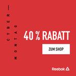 Cyber Monday bei Reebok – 40% Rabatt auf ausgewählte Artikel und 50% Ersparnis auf Outlet