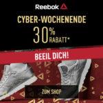 Sicher dir jetzt 30% Rabatt beim großen Reebok Cyber Wochenende!