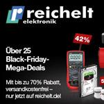 Über 25 Mega Deals mit bis zu 70% Rabatt im Online Shop von reichelt elektronik!