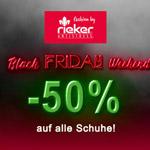 Black Friday Weekend im Rieker-Outlet – Sicher dir jetzt 50% Rabatt auf alle Schuhe!