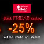 25% Rabatt auf alle Schuhe im Rieker-Shop – Black Weekend vom 23.-25.11.2018!