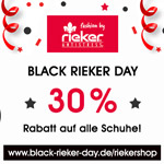 30% Rabatt auf alle Schuhe im Rieker-Shop – Sale nur am 24.11.2017!