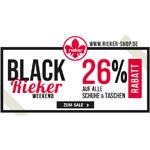 26% Rabatt auf alle Schuhe & Taschen im Rieker-Shop – Black Rieker Weekend