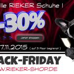 Nur heute: 30% Rabatt auf alle Rieker Schuhe!