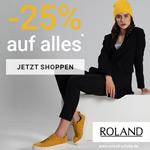 25% Rabatt auf Alles im Online Shop von Roland Schuhe