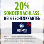 20% Rabatt auf alle Geschenkkarten von Running Warehouse Europe!
