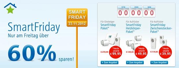 RWE SmartFriday 2012 gestartet: Bis zu 67% bei RWE SmartHome sparen