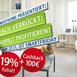 SmartFriday bei RWE SmartHome:  Sichere dir on Top zur Cashback Aktion noch 19% Preisnachlass!
