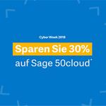 Cyber Week bei Sage – 30% Rabatt auf Sage 50cloud