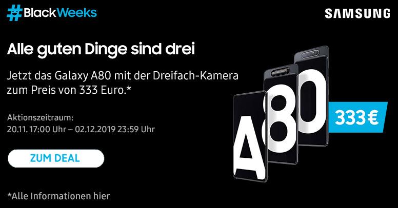 Samsung A80 Black Week 2019