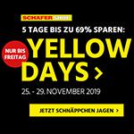 Yellow Days im Schäfer Shop – Jetzt Schnäppchen jagen und bis zu 69% Rabatt erhalten