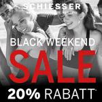 Schiesser feiert das Black Weekend mit 20% Rabatt auf das gesamte Sortiment