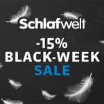 Großer Black Week Sale bei Schlafwelt.de mit 15% Rabatt auf das gesamte Sortiment