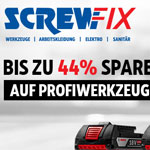 Spare bis zu 44% auf ausgewähltes Profiwerkzeug bei Screwfix.