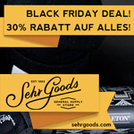 Black Friday Deals bei Sehr Goods – 30% Rabatt auf alles