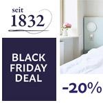 Spare mit dem Black Friday Deal 20% auf Manufakturbettwäsche der Marke seit1832