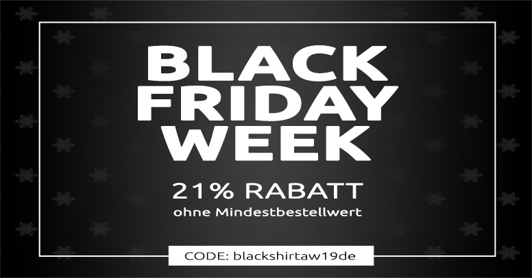 Shirtinator Black Friday 2019
