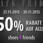 Noch bis Montag gibt es 50% Rabatt auf alle Artikel im Shop von Shoes4friends!