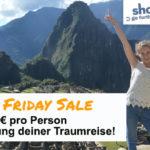 Spare 100€ pro Person bei Buchung deiner Traumreise mit Shoestring!
