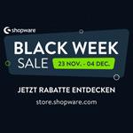 Großer Black Week Sale bei Shopware. Sicher dir jetzt mindestens 20% Rabatt auf Erweiterungen und Themes!