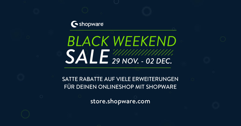 shopware Black Weekend Sale 2019