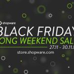Black Friday Long Weekend Sale bei Shopware mit 15% Rabatt auf ausgewählte Tools!