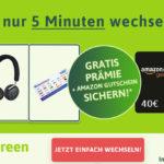 Jetzt zu SimplyGreen wechseln und attraktive Prämien + 40€-Amazon-Gutschein sichern