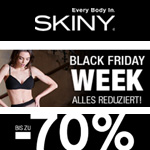 Black Friday Week bei Skiny – Spare jetzt bis zu 70% auf hochwertige Unterwäsche