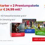 Sky Starter + 2 Premiumpakete für nur 24,99 Euro monatlich*
