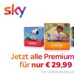 Jetzt zugreifen – Sky Starter Paket mit allen Premiumpaketen für nur €29,99 mtl.*
