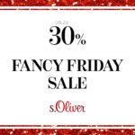 s.Oliver feiert mit Fancy Rabatten von bis zu 30% den Black Friday 2015.