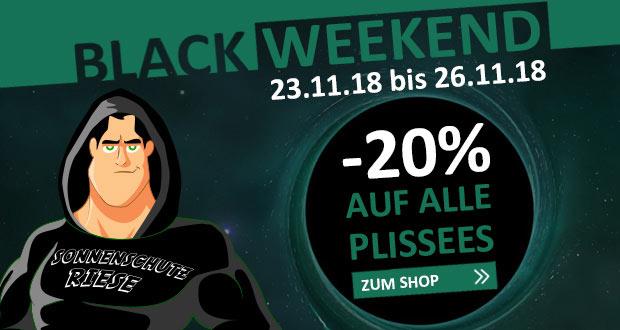 Sonnenschutz Riese Black Friday 2018