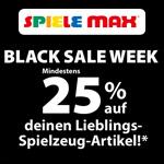 Black Sale Week bei Spiele Max – Mindestens 25% Rabatt auf Spielzeug Lieblingsartikel