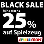 Black Sale-Week bei Spiele Max. Spare mindestens 25% auf Spielzeug von LEGO, Playmobil und weiteren!