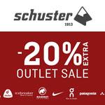 Outletsale 2020 bei Sport Schuster mit bis zu 20% Extra Rabatt auf zahlreiche Top Marken