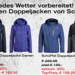 Nur heute bei Sportarena: Schöffel Doppeljacken für Damen Herren um 20% reduziert!