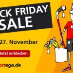 Black Friday Wochenende: bis zu 70 % Sonderrabatt auf Top-Sportartikel bei Sportega