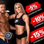 Spare bis zu 15% mit den Fitness Friday Deals von Sportnahrung Engel